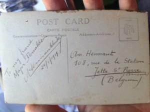 Un-numbered Postcard Reverse